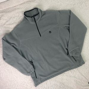 Gray Timberland Fleece Pullover